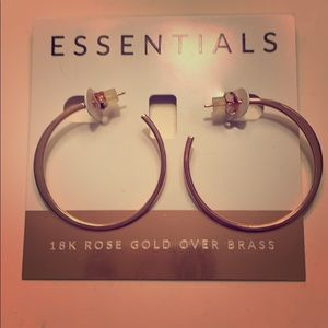 Rose Gold Plated Hoop Earrings *NEVER WORN*